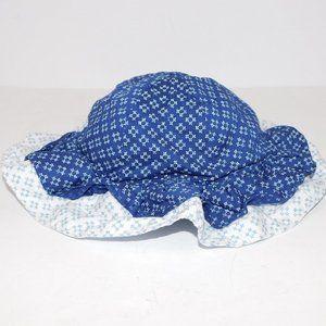 Gymboree Girls 18-24 Months Blue Bonnet Sun Hat